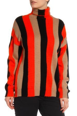 Джемпер MSGM. Цвет: бежевый, черный, оранжевый