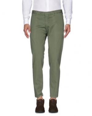 Повседневные брюки BARBA NAPOLI. Цвет: зеленый