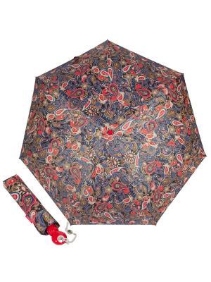 Зонт складной Cashmere Red Joy Heart. Цвет: синий, бежевый, красный