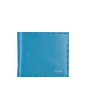 Бумажник PAUL SMITH. Цвет: бирюзовый