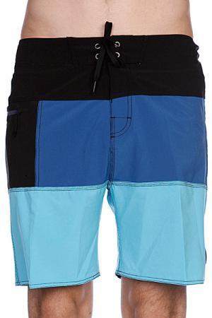 Пляжные мужские шорты  Complex Boardie Washed Blue Globe. Цвет: черный,синий,голубой