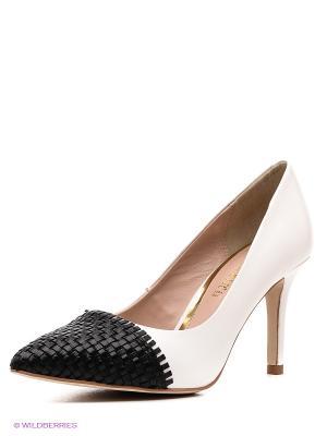 Туфли CAFeNOIR. Цвет: черный, белый