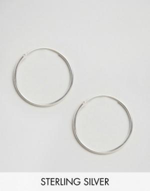 Fashionology Серебряные большие серьги-кольца. Цвет: серебряный