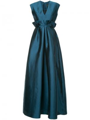 Платье с V-образным вырезом Greta Constantine. Цвет: синий