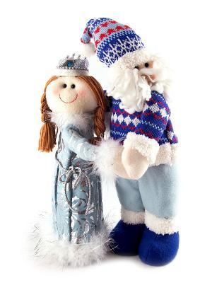 Новогодний сувенир Дед Мороз и Снегурочка Русские подарки. Цвет: белый, синий