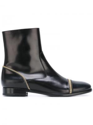 Ботинки с молниями Fratelli Rossetti. Цвет: чёрный