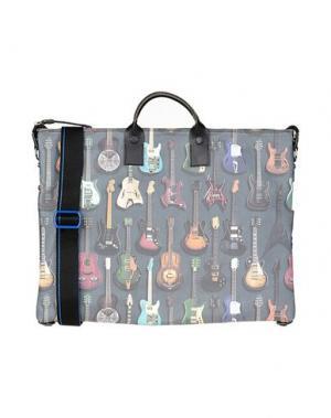 Деловые сумки GABS. Цвет: стальной серый