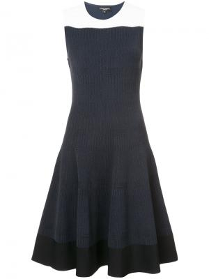 Flared knitted dress Narciso Rodriguez. Цвет: синий