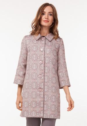 Пальто Vladi Collection. Цвет: розовый