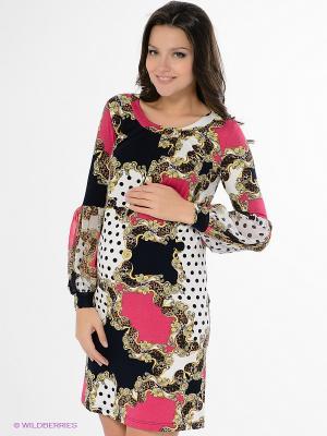 Платье Nuova Vita. Цвет: малиновый, желтый, белый, черный