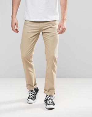 Lee Прямые классические джинсы песочного цвета Daren. Цвет: бежевый