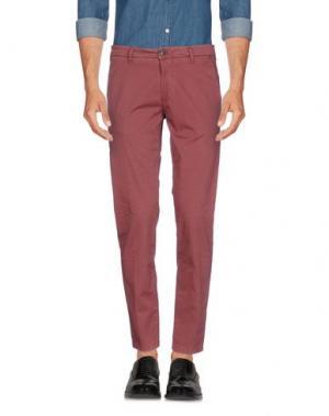 Повседневные брюки ONE SEVEN TWO. Цвет: красно-коричневый