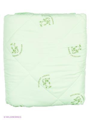 Одеяло Letto бамбук в п/э Евро универс. чемодане, 200*215см. Цвет: светло-зеленый