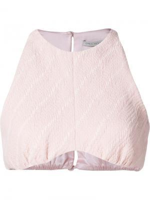 Укороченный топ Emilia Wickstead. Цвет: розовый и фиолетовый