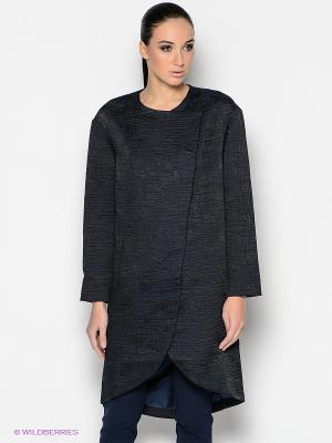 Пальто PALLARI. Цвет: темно-синий