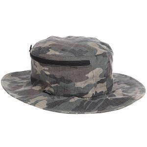 Панама  Stow Bucket Hat Camo Brixton. Цвет: черный,коричневый,зеленый,камувлжный