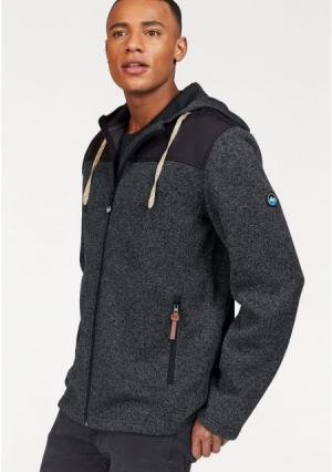 Флисовая куртка POLARINO. Цвет: темно-серый/меланжевый, темно-синий меланжевый