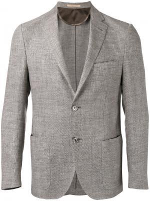 Пиджак с накладными карманами Corneliani. Цвет: коричневый