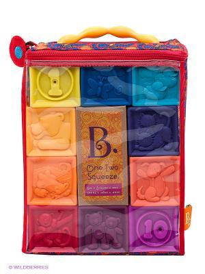 Мягкие кубики Battat. Цвет: красный, синий, фиолетовый
