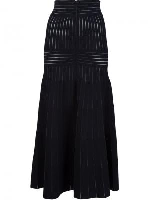 Расклешенная юбка Barbara Casasola. Цвет: чёрный