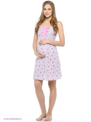 Ночная сорочка для беременных и кормления 40 недель. Цвет: белый, серебристый, сиреневый