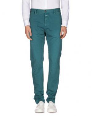 Повседневные брюки CLOSED. Цвет: цвет морской волны