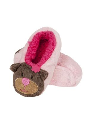 Тапки детские SOXO. Цвет: розовый, коричневый, малиновый, бежевый