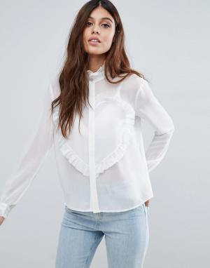Little White Lies Рубашка Love Heart. Цвет: белый