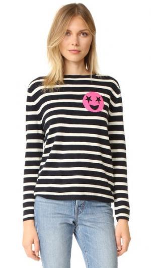 Кашемировый свитер Breton Emoji Chinti and Parker. Цвет: темно-синий/кремовый/розовый