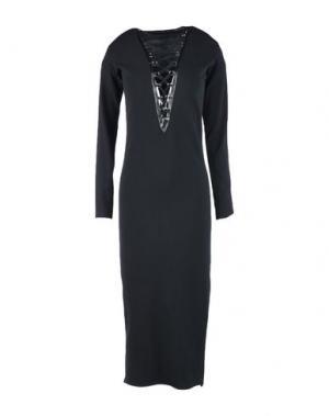 Платье длиной 3/4 TENAX. Цвет: черный
