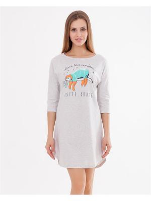 Ночная сорочка Mark Formelle. Цвет: серый меланж, оранжевый