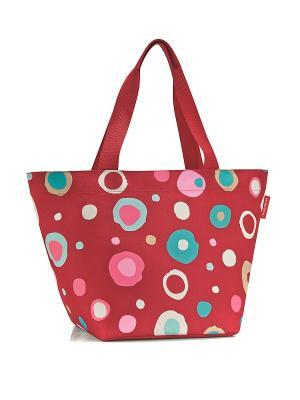 Сумка Shopper M funky dots 2 Reisenthel. Цвет: красный