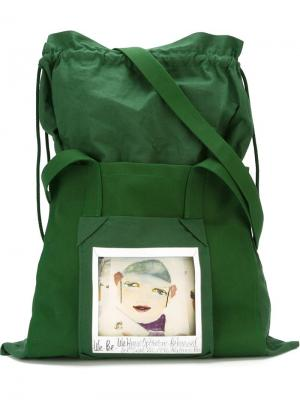 Instant photo print tote And Re Walker. Цвет: зелёный