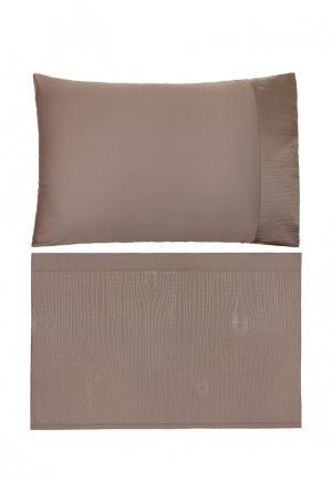 Комплект постельного белья 1,5-спальный Luxberry. Цвет: коричневый