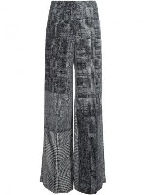 Широкие брюки в клетку Jason Wu. Цвет: чёрный