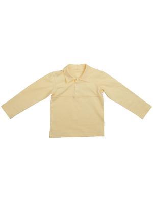Рубашка-поло KIDONLY. Цвет: желтый