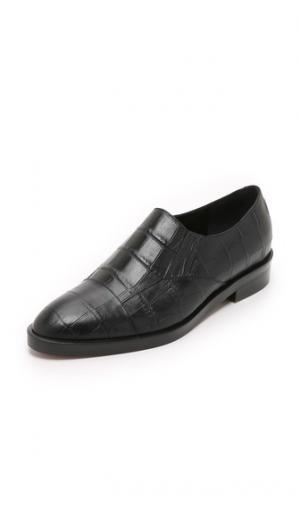 Ботинки без шнурков в стиле дерби Jenni Kayne. Цвет: голубой
