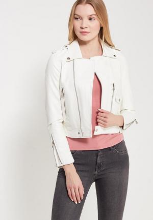Куртка кожаная Grand Style. Цвет: белый