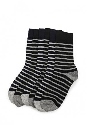 Комплект носков 6 пар oodji. Цвет: черный