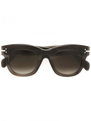 Солнцезащитные очки с градиентными стеклами Céline Eyewear. Цвет: зелёный