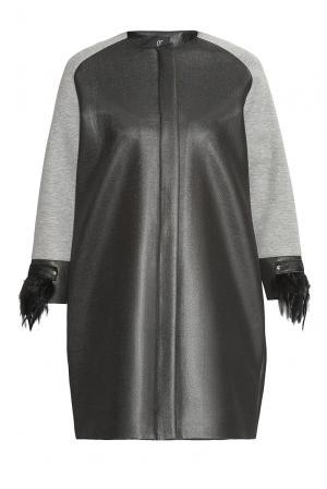 Пальто с манжетами 150097 Cristina Effe. Цвет: разноцветный