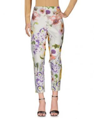 Повседневные брюки LELA ROSE. Цвет: слоновая кость