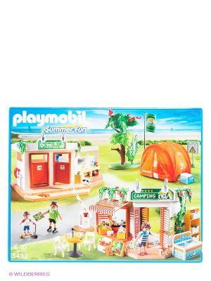 Игровой набор Большой кемпинг Playmobil. Цвет: молочный, красный, оранжевый