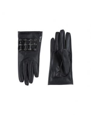 Перчатки JIJIL. Цвет: черный