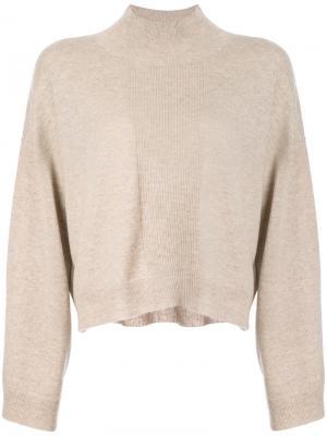 Укороченный свитер Atm Anthony Thomas Melillo. Цвет: коричневый