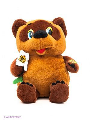 Мягкая игрушка Винни-Пух с цветком Мульти-пульти. Цвет: коричневый