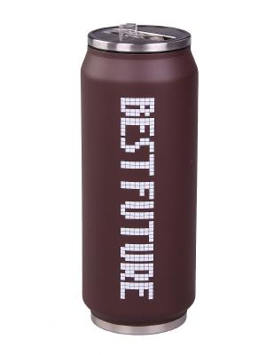 Термос 500мл (коричневый), шт PATRICIA. Цвет: коричневый