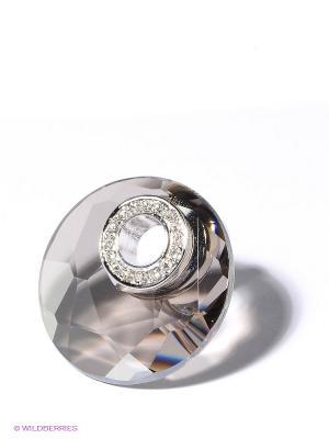 Кольцо Jenavi. Цвет: серебристый, прозрачный