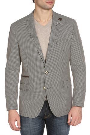 Пиджак STONES. Цвет: коричневый, белый микс