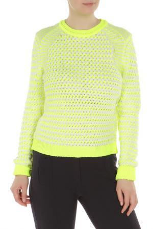 Пуловер Kenzo. Цвет: лимонный, белый